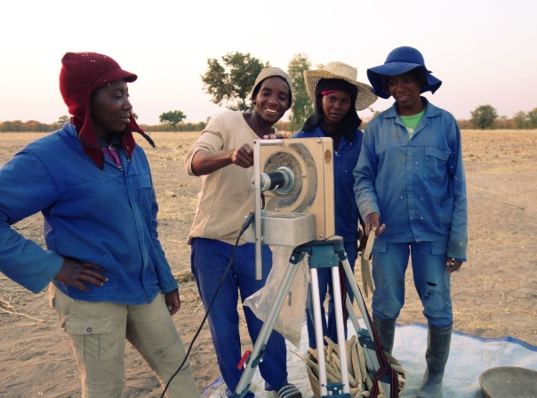 Namibian locals threshing using the Ant Farm 2.